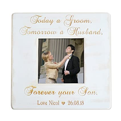 Amazon.com - Personalized Mother of Groom Photo Frame, Rustic ...