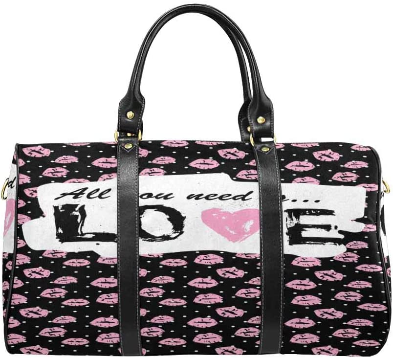 InterestPrint Carry-on Garment Bag Travel Bag Duffel Bag Weekend Bag Romantic Card or T Shirt Print