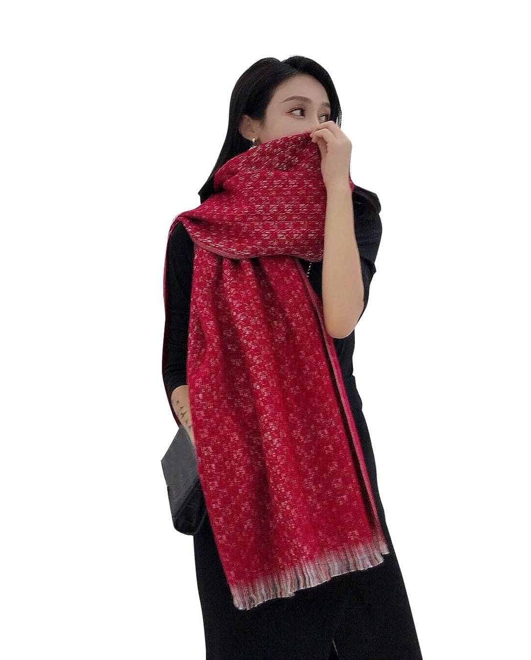 521415849dd Aswinfon Écharpe Chale Femme Cachemire Chaud Automne Hiver Longue Tissu  Glands Foulard Oversize 200   68cm