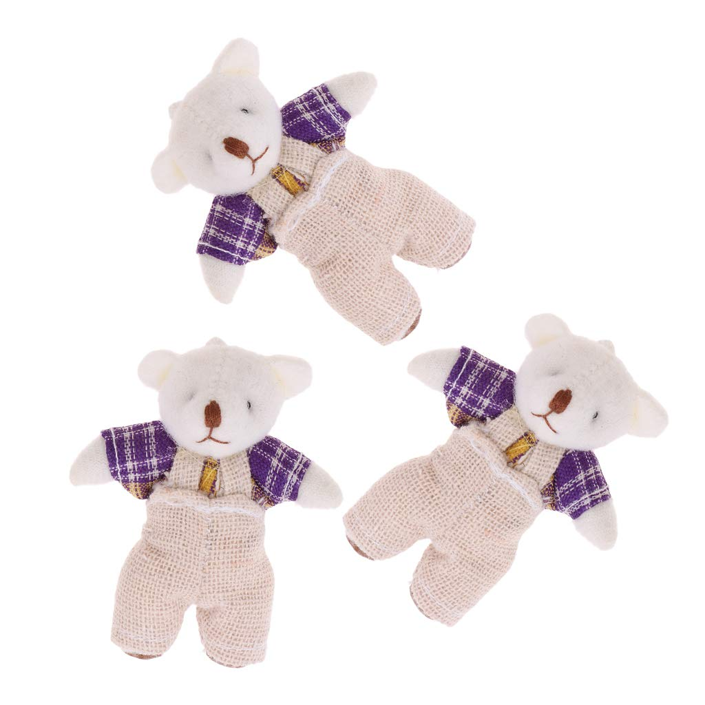1:12 Miniature Plush Bear Cute Doll Toy Gift Dollhouse Decoration Accessories