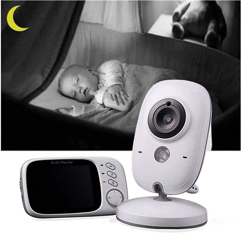 Bebé Monitor Inteligente con Cámara Comunicación Bidireccional con Pantalla LCD HD de 3.2