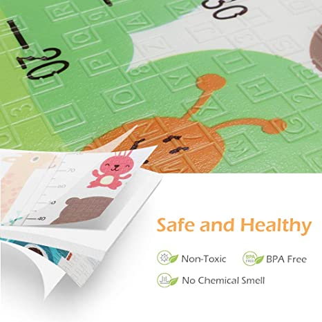 Foldable Baby Play Mat 150cm Round Toy Storage Bag Kids Crawling Blanket 07