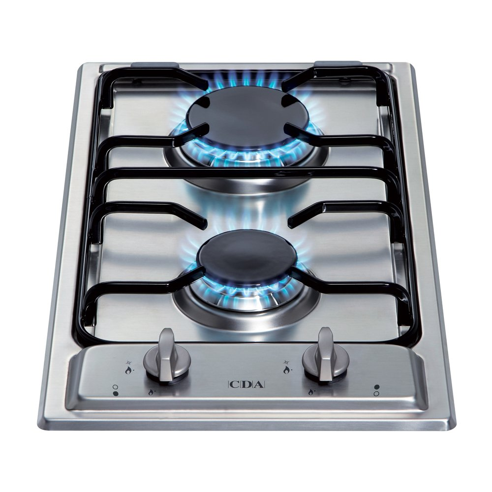 CDA HCG301 Two Burner Domino Gas Hob in Stainless Steel HCG301SS