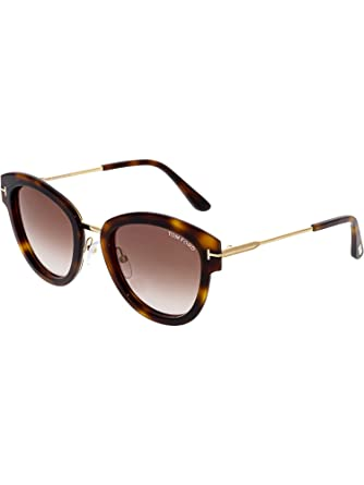 9943c0104d2 2018 Tom Ford MIA-02 FT0574 52G Women Tortoise Brown T-Logo Rounded ...