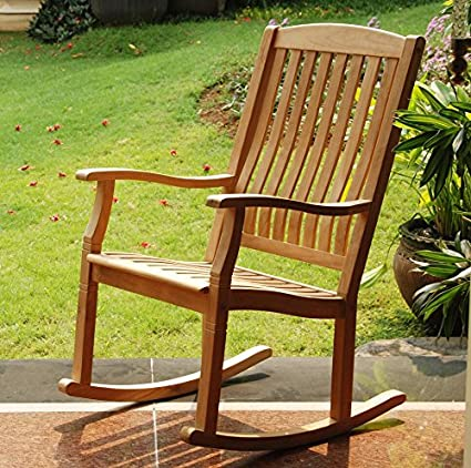 Cambridge Casual AMZ 130574T Arie Teak Rocking Chair, Natural