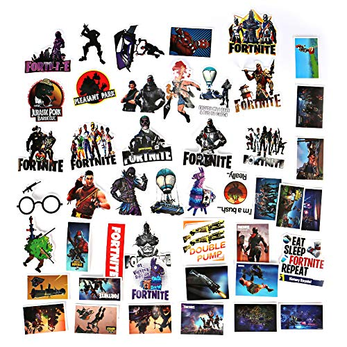 Echeer Battle Royale Sticker 46pcs Waterproof Removable Vinyl Party Favors Gaming Decal Stickers Car Stickere Gamer Birthday Party Supplies Gift