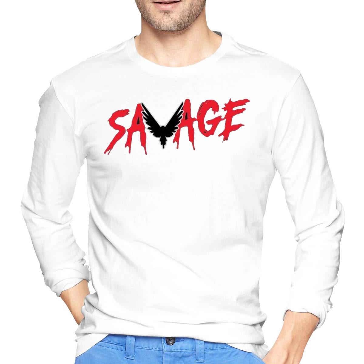 Mens Casual Cotton Savage Parrot Logan Paul Tee Shirts Long Sleeve O-Neck Sports Fitness Tops T-Shirt Men T Shirt