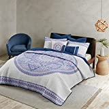 Urban Habitat Coletta King/Cal King Girls Quilt Bedding Set - Purple, Bohemian Medallion – 7 Piece Teen Girl Bedding Quilt Coverlets – 100% Cotton Bed Quilts Quilted Coverlet