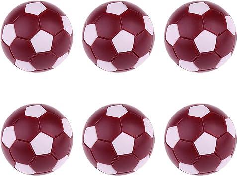 Gazechimp 6 Pedazos Pelotas de Fútbol de Mesa Bolas de Futbolín 36MM Regalos para Amigos - Rojo Oscuro: Amazon.es: Juguetes y juegos