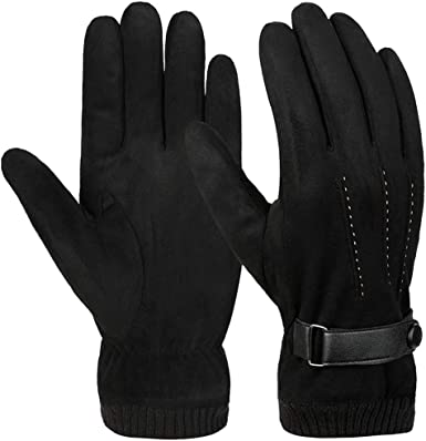 Winter Gloves Men Warm Gloves Touch Screen Texting Mittens Outdoor Driving Cycling Thick velvet Lining Gloves Warm Cold Weather Gloves For Men