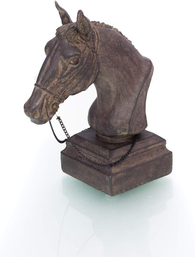 Antikas - decoración hogar Cabeza de Caballo - esculturas de Caballos - decoración cuadra Caballos estatuas