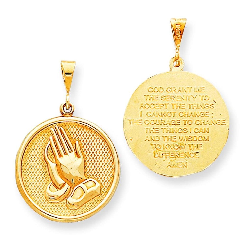 Amazon 10k gold praying hands serenity prayer charm pendant amazon 10k gold praying hands serenity prayer charm pendant jewelry aloadofball Choice Image
