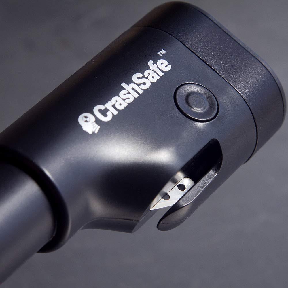 CrashSafe 6-in-1 Car Safety Device - Emergency Window Glass Breaker Tool, Seat Belt Cutter, 2200 mAh Power Bank, 2-Mode Flashlight, Red Emergency Beacon, USB Car Charger (3) by CrashSafe (Image #6)