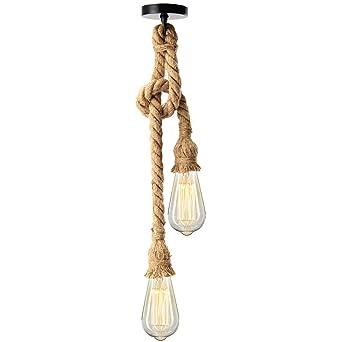 Kingso E27 Lampenfassung Vintage Edison Pendelleuchte Hangelampe