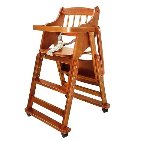 ACZZ Silla de comedor para niños Sillón de madera maciza ...
