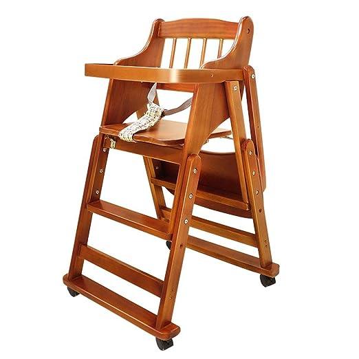 ACZZ Silla de comedor para niños Sillón de madera maciza Asiento ...