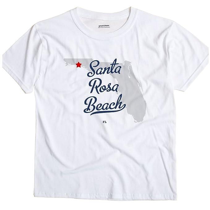 Santa Rosa Florida Map.Amazon Com Santa Rosa Beach Florida Fl Map Greatcitees Unisex