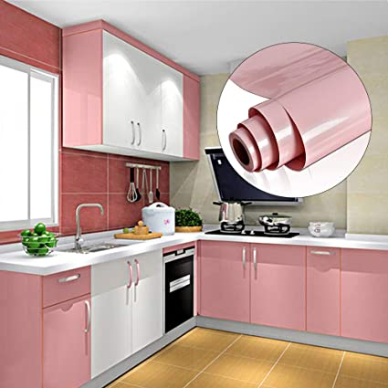 Yenhome High Glossy Pink Self Adhesive Vinyl Contact Paper ...