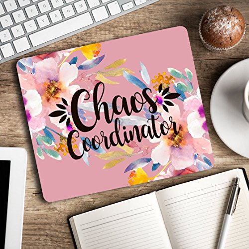Cheap  Chaos Coordinator - Motivational quote - Funny office humor - Floral Mouse..