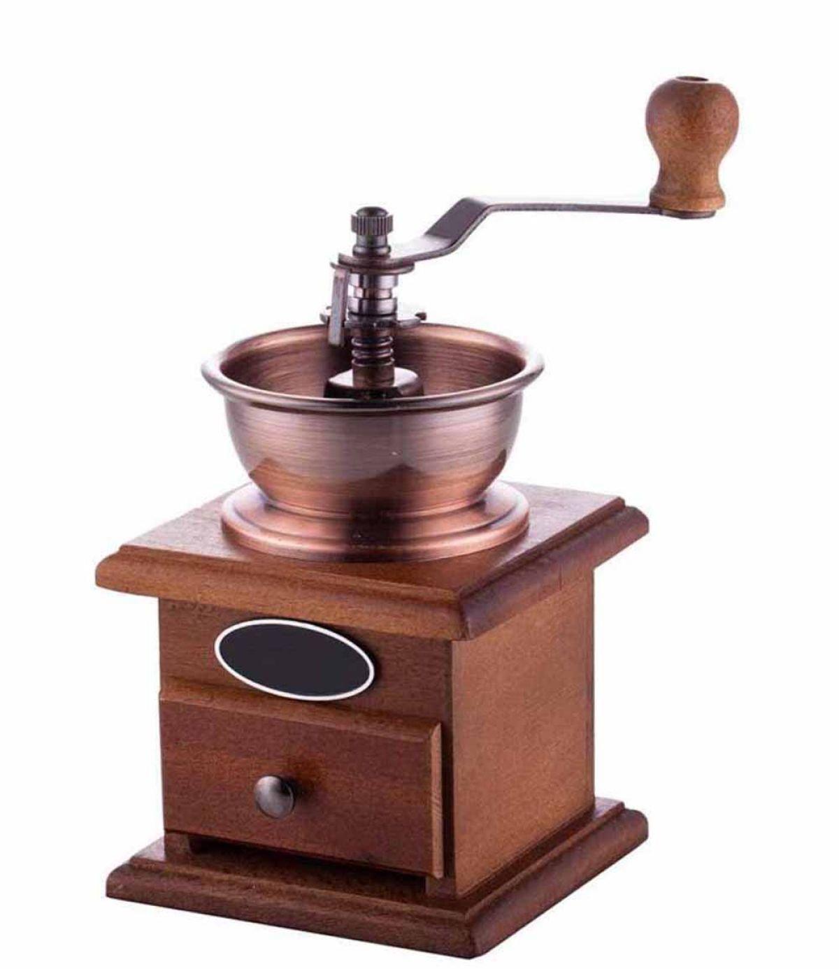 Glitch Vintage-Holz-Handschleifer Kaffeemühle Mini-Haus