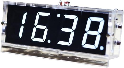 Hochpr/äzise Elektronische Uhr Ohne Verkabelung funnyfeng 4 in 1 Autouhr mit Thermometer Solar Leuchtendes Starten Sie Mit Dem Auto