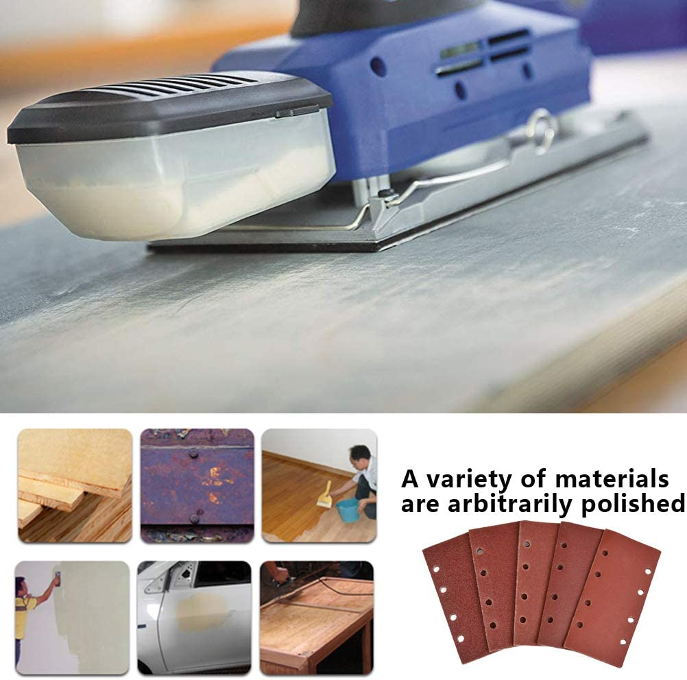 Metal Furniture Polishing 240 Grits Sand Pads Hook and Loop Sanding Sheets with 8 Holes Fit Orbital Sander for Wood YANSHON 25Pcs Sanding Sheets Pads 40 80 120 60