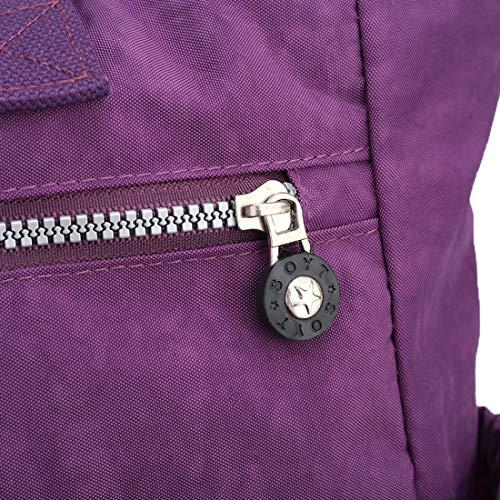 Noir Tclothing à main Sac au femme porté Violet pour dos Noir 8q8OxAgZ