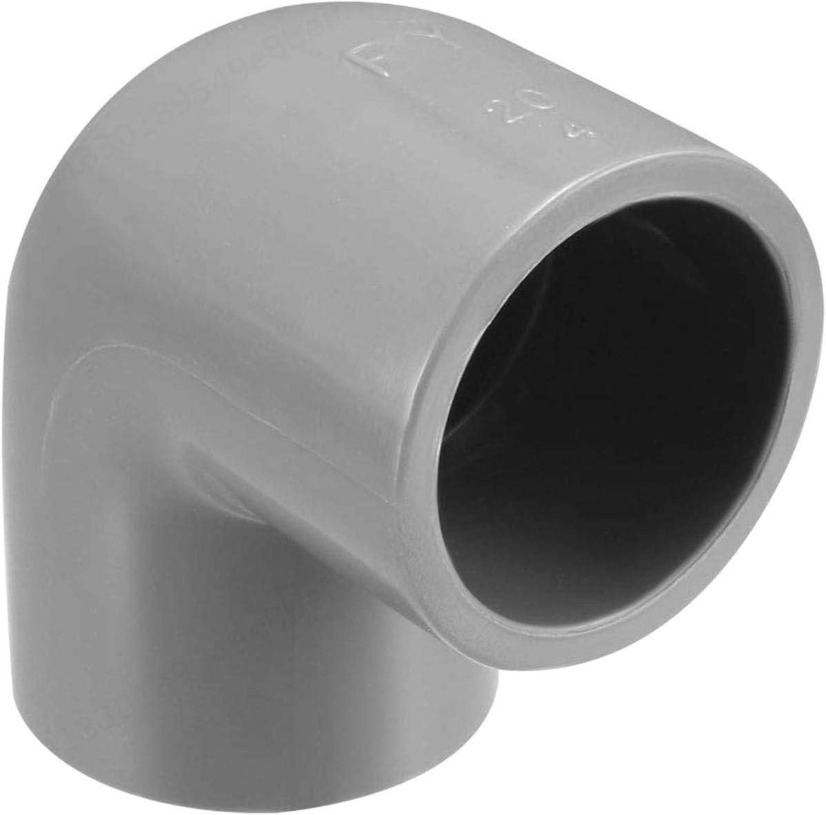JOJOZZ Montage du coude Adaptateur daccouplement Gris 5 pi/èces de Tuyau en PVC Coude 20 mm Slip 90 degr/és