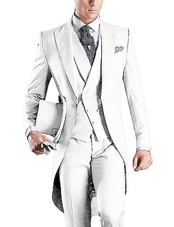 Traje Formal de 3 Piezas para Hombre, Ajustado, Tuxedos de ...