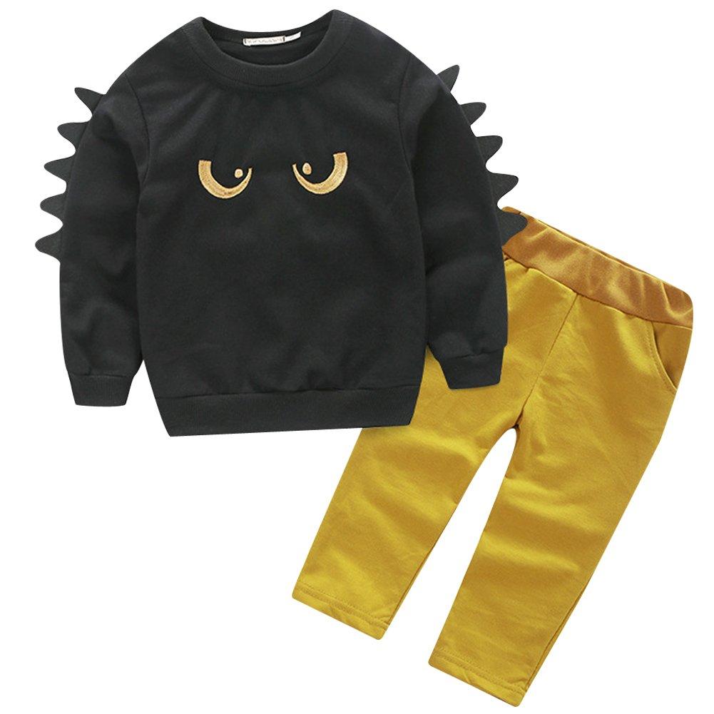 La Cabina Bébé Garçon Boy Ensemble de Vêtement Sweat-Shirt Jogging Motif Monstre + Pantalon 111434