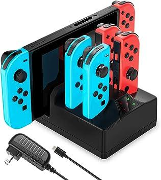 YCCTEAM - Cargador para Nintendo Switch, 5 en 1, con adaptador de ...