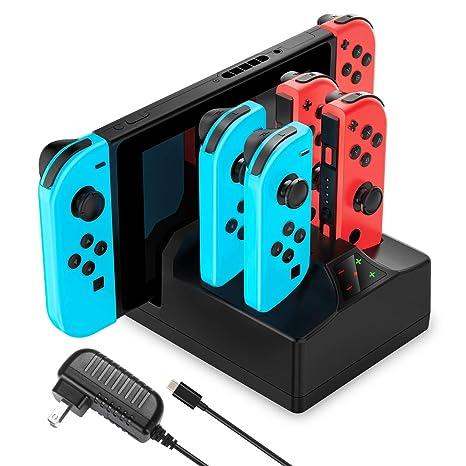 YCCTEAM - Cargador para Nintendo Switch, 5 en 1, con ...