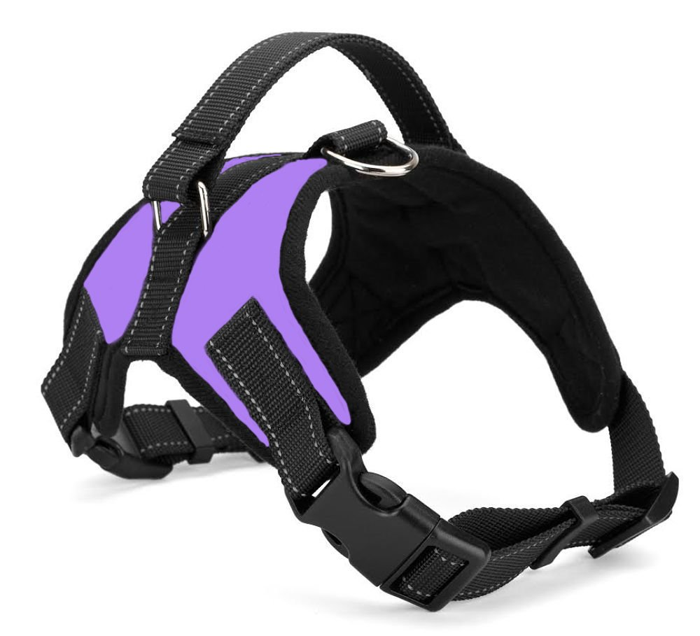 Purple Large Purple Large Xanday No Pull Dog Vest Harness,Reflective Dog Body Padded Vest with Handle, Adjustable Dog Walking Harness Comfort Control for Small Medium Large Dogs (L, Purple)