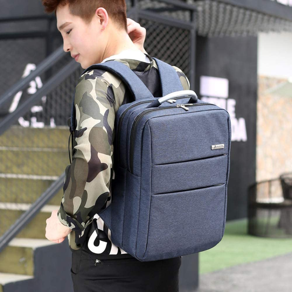 Business fashion computer backpack portable leisure backpack large capacity outdoor backpack gray black