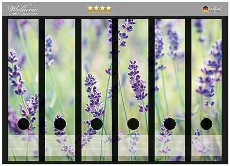 Archivadores pegatinas de lilas en el césped en CALIDAD - tamaño 36 x 30 cm,