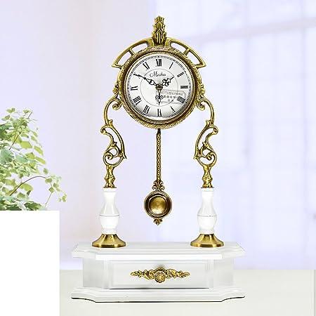 Reloj jardín silencioso antiguo europeo El reloj del rey moderno sala de estar ideas péndulo hoja del reloj-B: Amazon.es: Hogar