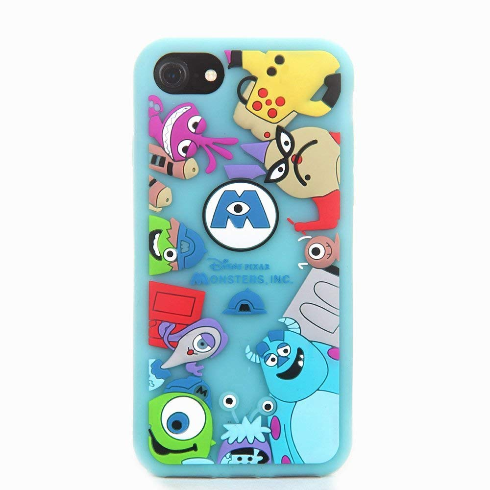 half off 609f9 f17fc Monsters Case for iPhone SE 5 5S 5C,3D Cartoon Animal Character Design Cute  Soft Silicone Rubber Funny Cover,Animated Fashion Cool Skin for Kids Boys  ...
