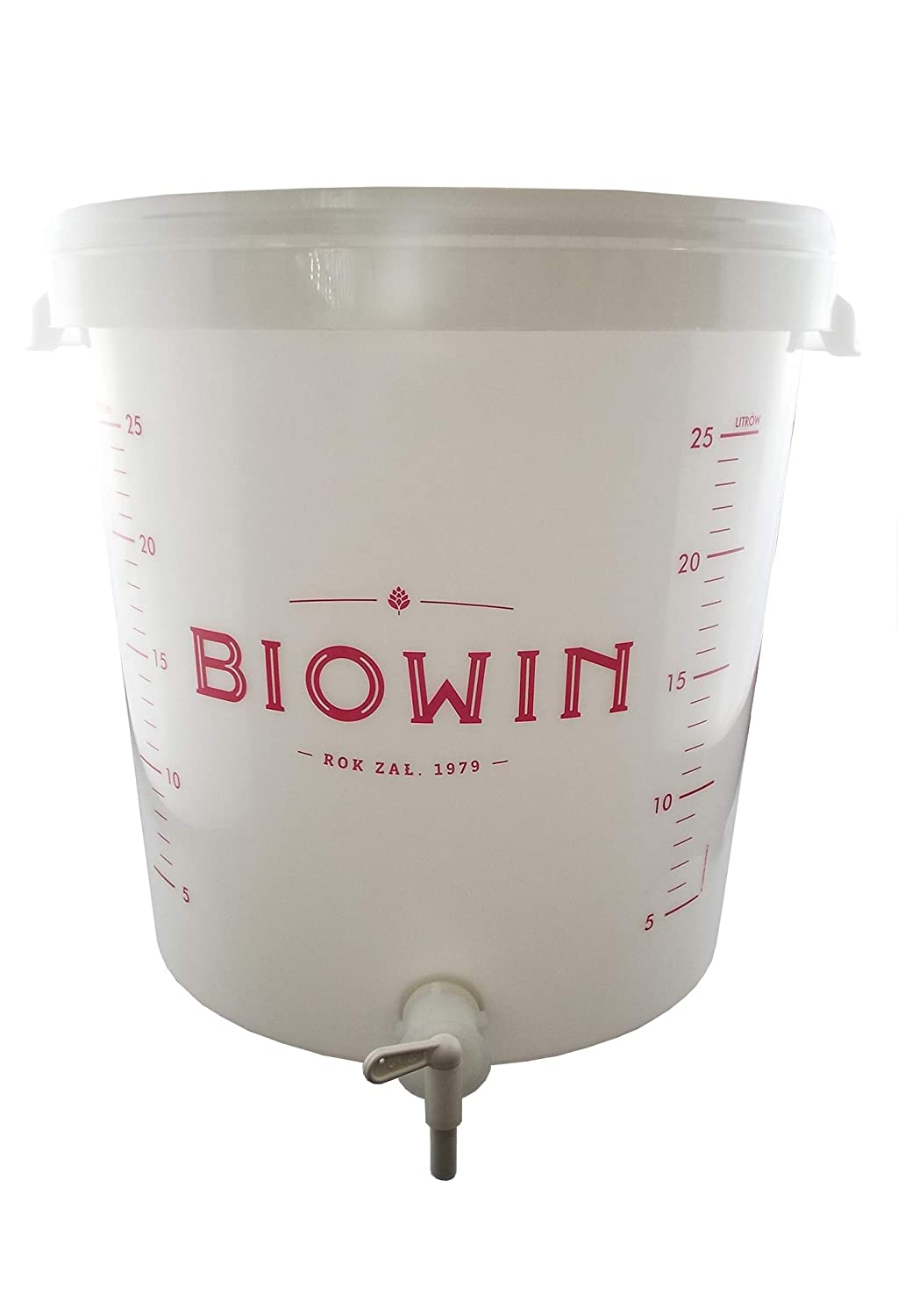 (30L)Large fermentation bucket with graduation scale,airlock,bung,tap and FREE SIPHON TUBE! BIOWIN