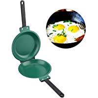 Double-Sided Non Stick Pan, Nonstick Pancake Flip Pan Omelette, Non-Stick Flip Folding Frying Pan, Double Side Non-Stick…