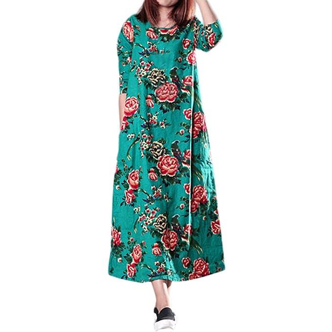 Amazon.com: Morecome,Women Plus Size Folk-Custom Loose Long ...