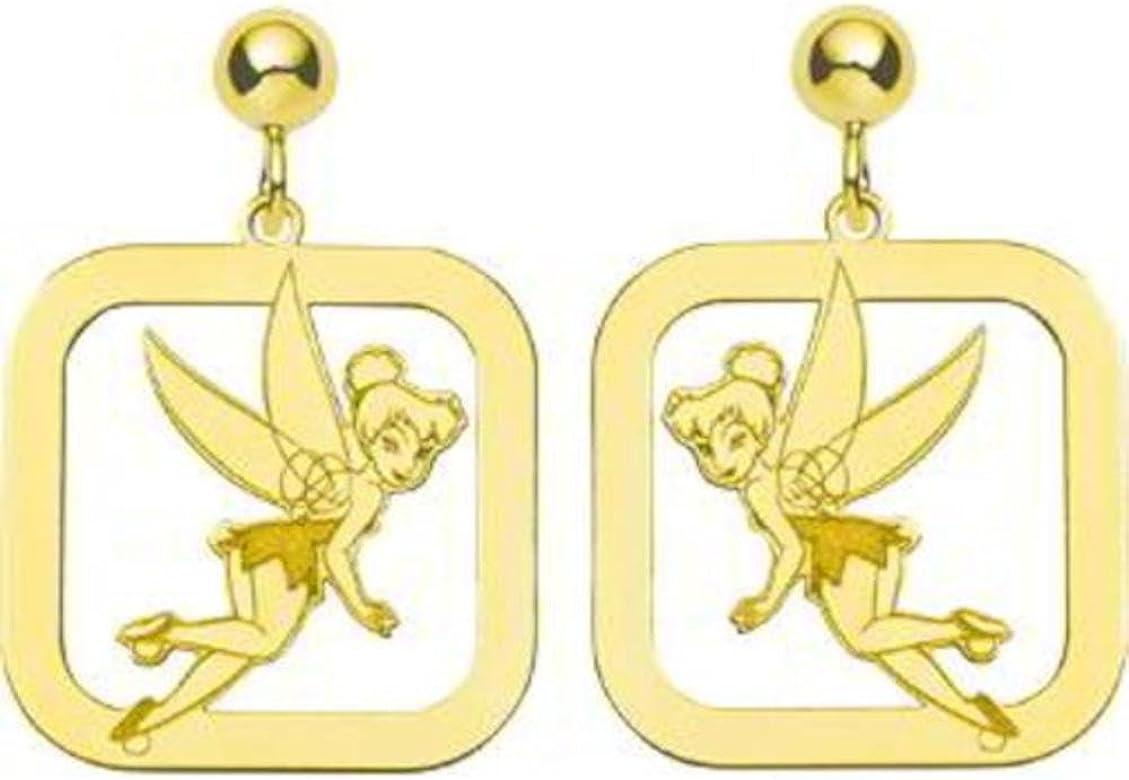 pendientes del hada campanilla oro