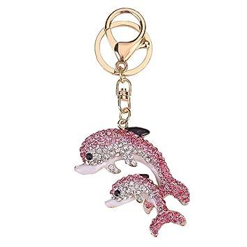 greatfun Cute Rhinestone doble delfín brillante encanto ...