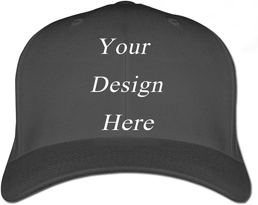 New Personalized Custom Made Logo Unisex Baseball Hats Caps Summer Sun  Visor (Baseball Hats Black e2e79f6e948
