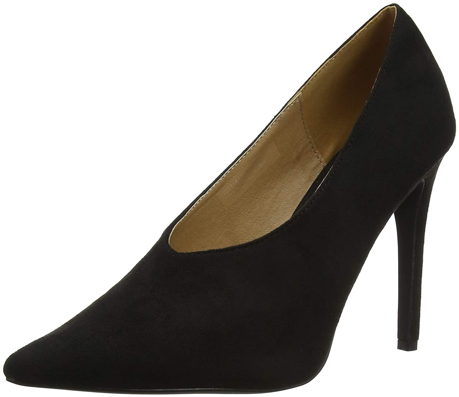 85eb6bcd4083 Lost Ink Women s s Tate High Vamp Basic Court Closed Toe Heels   Amazon.co.uk  Shoes   Bags