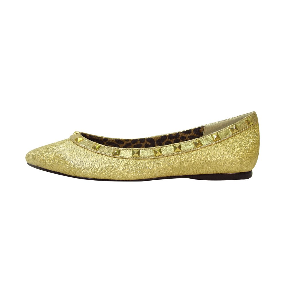 Fuzzy FIC Emily Women Wide Width Pointed (Size Toe Dress Casual Flat (Size Pointed & Measurement Guides Available) B01LZ419BK 10 E|Gold 096ba1