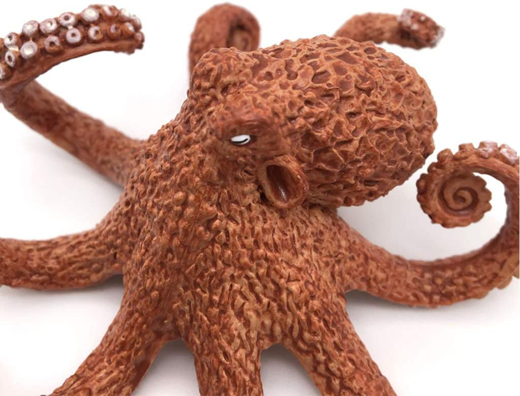 Lyguy Lebensechte Octopus realistische Octopus Sea Life Modell aus massivem Kunststoff Figur Ocean Party Dekorationen