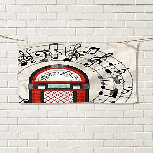 Jukebox cotton craft hand towels Cartoon Antique Old Vintage