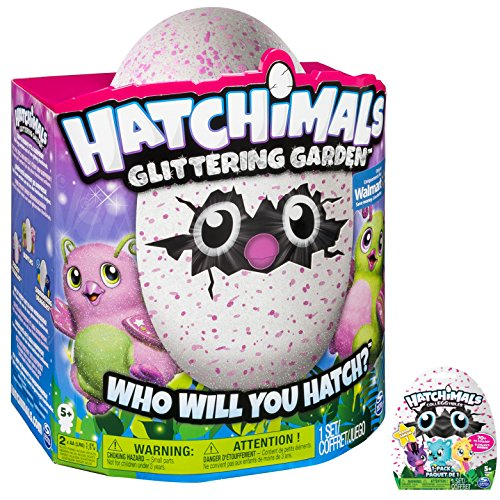Hatchimal Glittering Garden Gleaming Burtle pink/green with CollEGGtible Blind Pack!