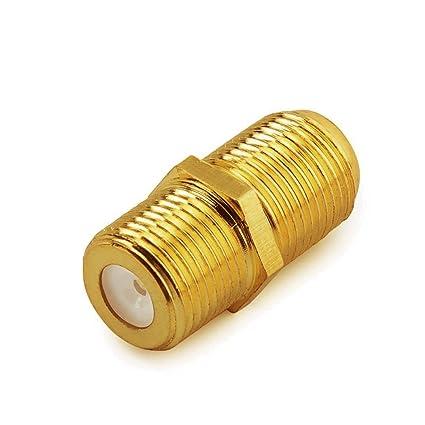 Sobetter F-Pin Macho acoplador coaxial RG6 Conector Hembra a hembra tipo adaptador de cable