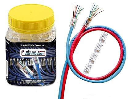 Amazon.com: Platinum Connector RJ45 CAT5/5e 50 Pieces - end Pass ...